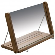 Bamboo and glass cookbook holder 8759701