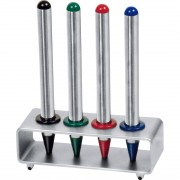CrisMa 4 Stainless-Steel Ball Pens / stand.